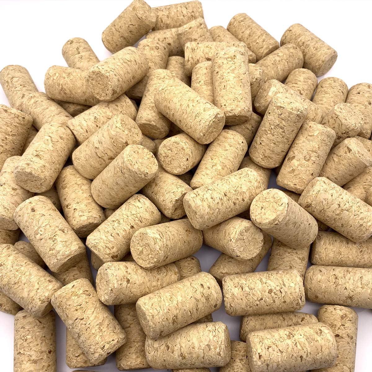 PheiLa 100 Pack #9 Blank Wine Corks 15/16