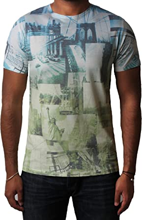 Mens Threadbare Graphic Floral Cotton Casual Crew Neck Short Sleeve T-Shirt