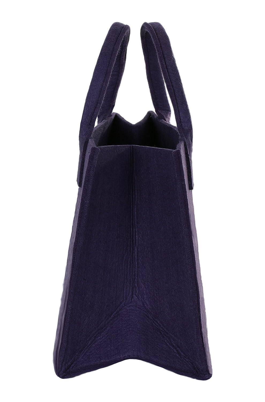 35 x 20 x 28 cm Brandsseller Praktische Einkaufstasche Shoppingbag Freizeittsche Aufbewahrungsbeh/älter aus Filz ca Anthrazit