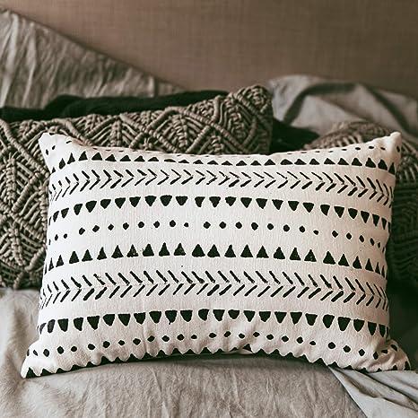 Amazon.com: Stylish Mudcloth Throw Pillow Cover – Modern ...