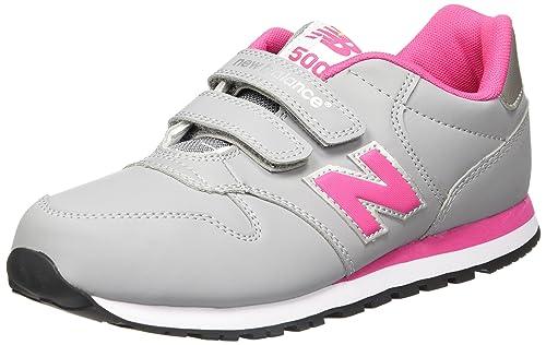 New Balance KV500GPI - Zapatillas para Niños, Color Gris/Rosa, Talla 27.5