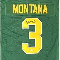 $199 » Notre Dame Fighting Irish Joe Montana Autographed Green Jersey Beckett BAS Stock #152352