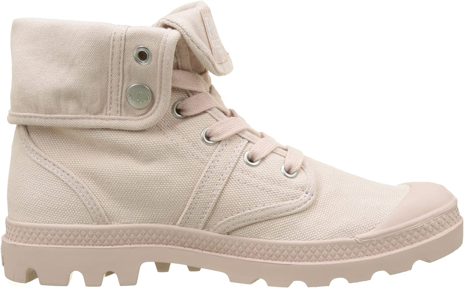 Palladium Pallabrouse Baggy, Baskets Hautes Femme Rose Peach Whip K74