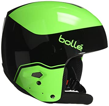 Bollé 31394 Cascos de Esquí, Unisex Adulto, Verde (Black/Flash Green)