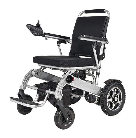 Silla de ruedas eléctrica plegable, silla de ruedas ligera portable, carga más larga de