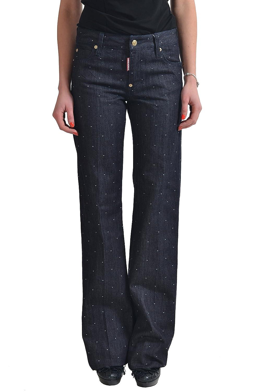 Dsquared2 Women's Dark Blue Straight Leg Jeans US 4 IT 40