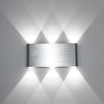 Louvra Applique Murale LED 6W Intérieur Lampe Décorative Moderne Créatif  Originale Éclairage Design Lumiaire Aluminium Pour