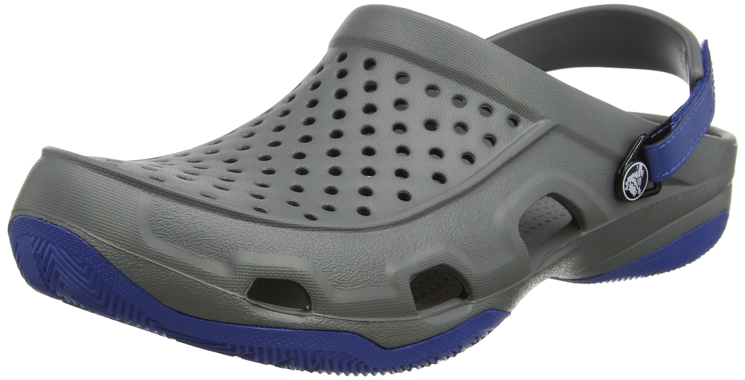 Crocs Men's Swiftwater Deck Clog M Mule, Slate Grey, 10 M US