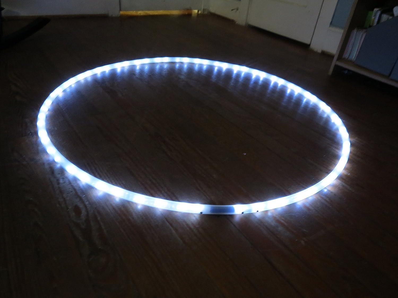 WHITE LED HULA HOOP