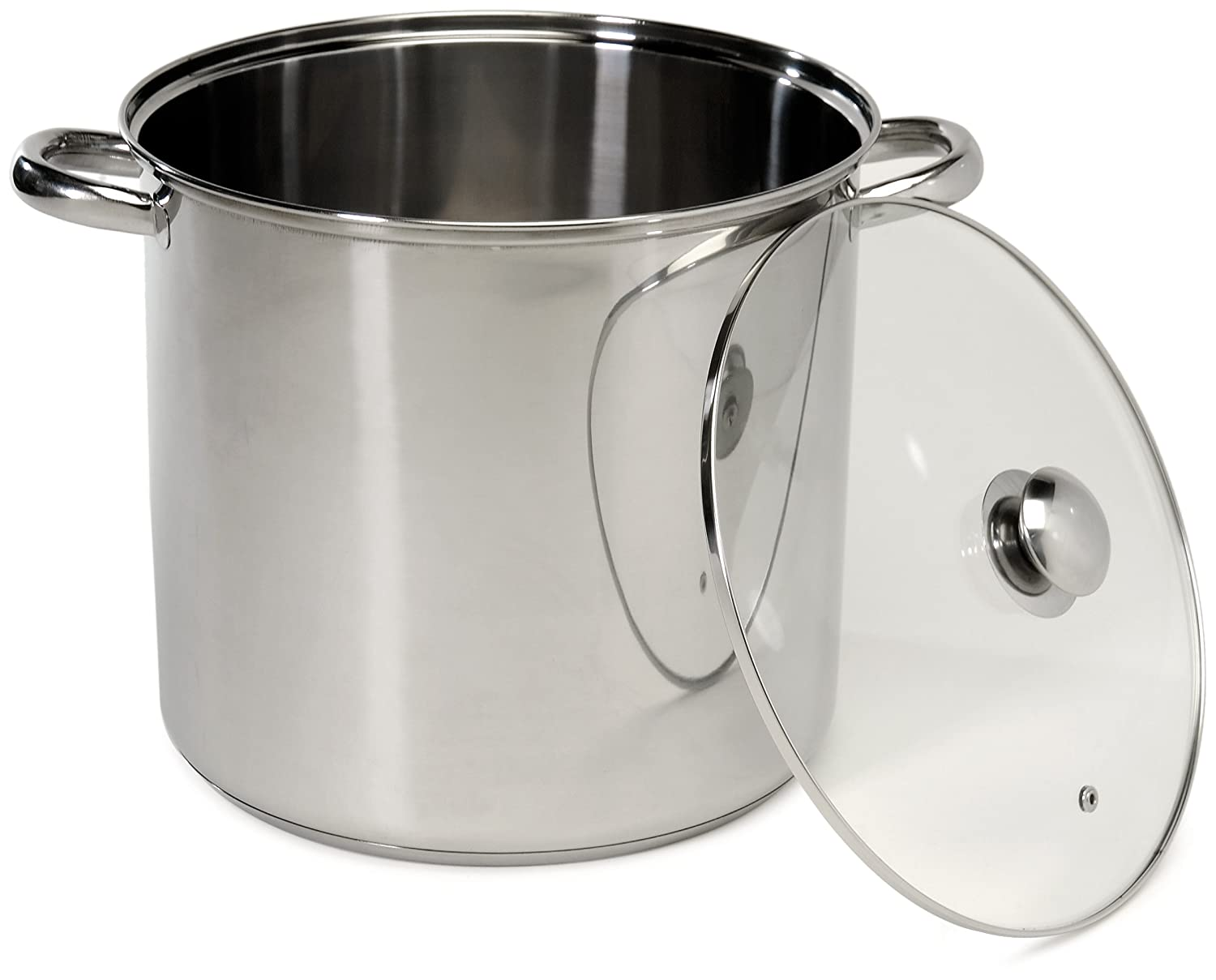Excelsteel 16 Quart Stainless Steel Stockpot With Encapsulated Base 550