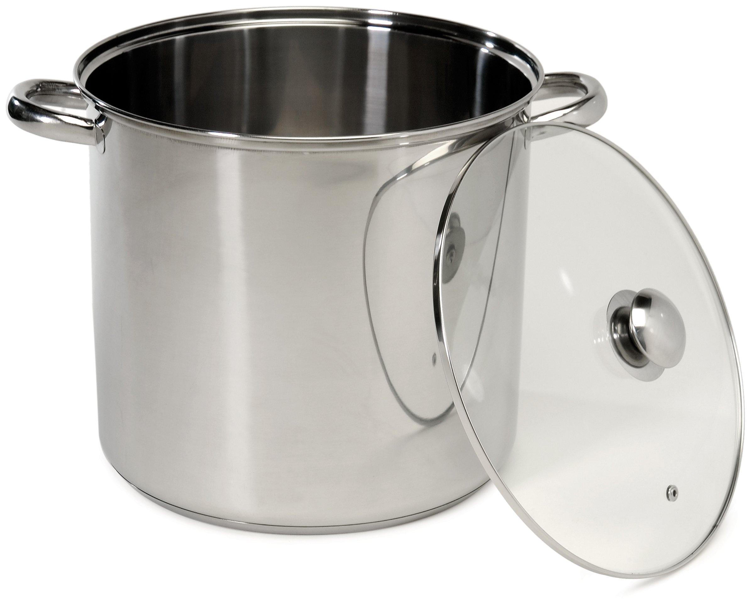 Excelsteel 16 Quart Stainless Steel Stockpot With Encapsulated Base by ExcelSteel