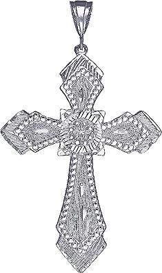 Mia Diamonds 14k Gold Two-Tone Polished Jesus Crucifix Pendant