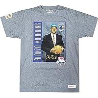 Mitchell & Ness 1992 NBA Draft Alonzo Mourning Charlotte Hornets Short Sleeve T-Shirt Heather Grey/Multi