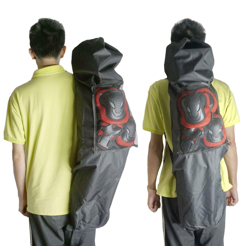 Cooplay 41'' Black Professional Big Longboard Skateboard Carry Bag Handy Backpack Handbag Long Board With Mesh