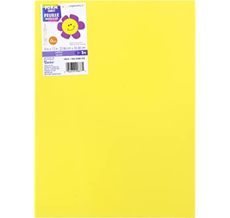 Yellow 9 x 12 inches EVA sheet 12 Pieces Time 4 Crafts