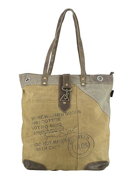 mujer bolsa de mensajero vintage bolsa cruzada de lona militar 42x44x11 cm 1696. Pasa ...