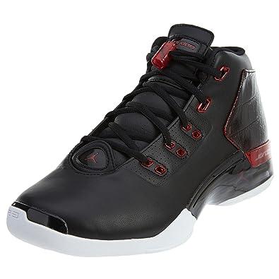 factory price b271f 58994 Amazon.com   Nike Mens Air Jordan 17+ Retro Black Gym Red -White Leather  Size 7.5   Basketball