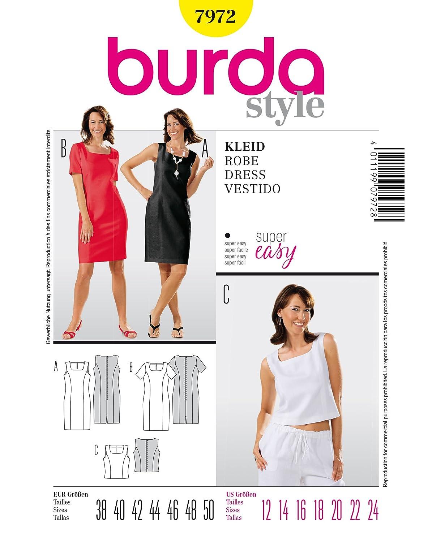 Burda Schnittmuster 7137 Kleid - Shiftkleid,Vestido - Cambio de ...