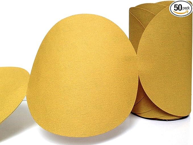 P400 Grit Aluminum Oxide 3M NX PSA Paper Disc Roll 6 Diameter White Roll of 100