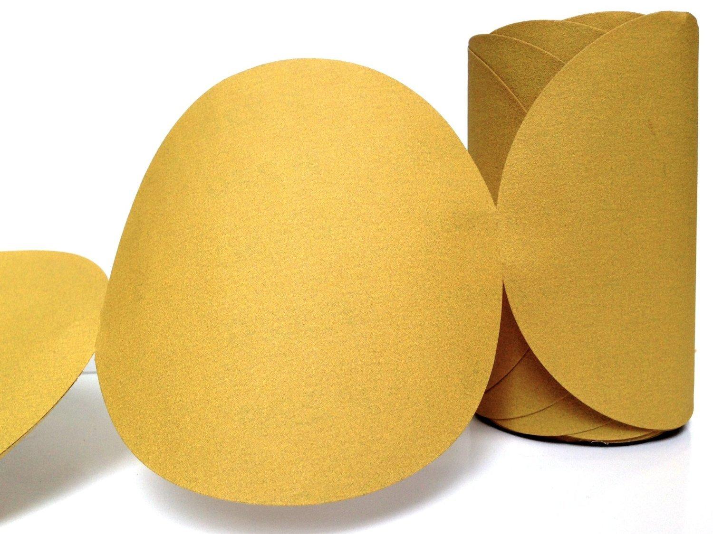 SANDING DISC, 5'', 220 grit, Stick Back (PSA) Abrasive Sandpaper Link Roll,100 ct