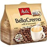 Melitta Gemahlener Röstkaffee in Kaffeepads, 16 Pads, 100 % Arabica, mild und harmonisch, milder Röstgrad, Stärke 2, BellaCrema