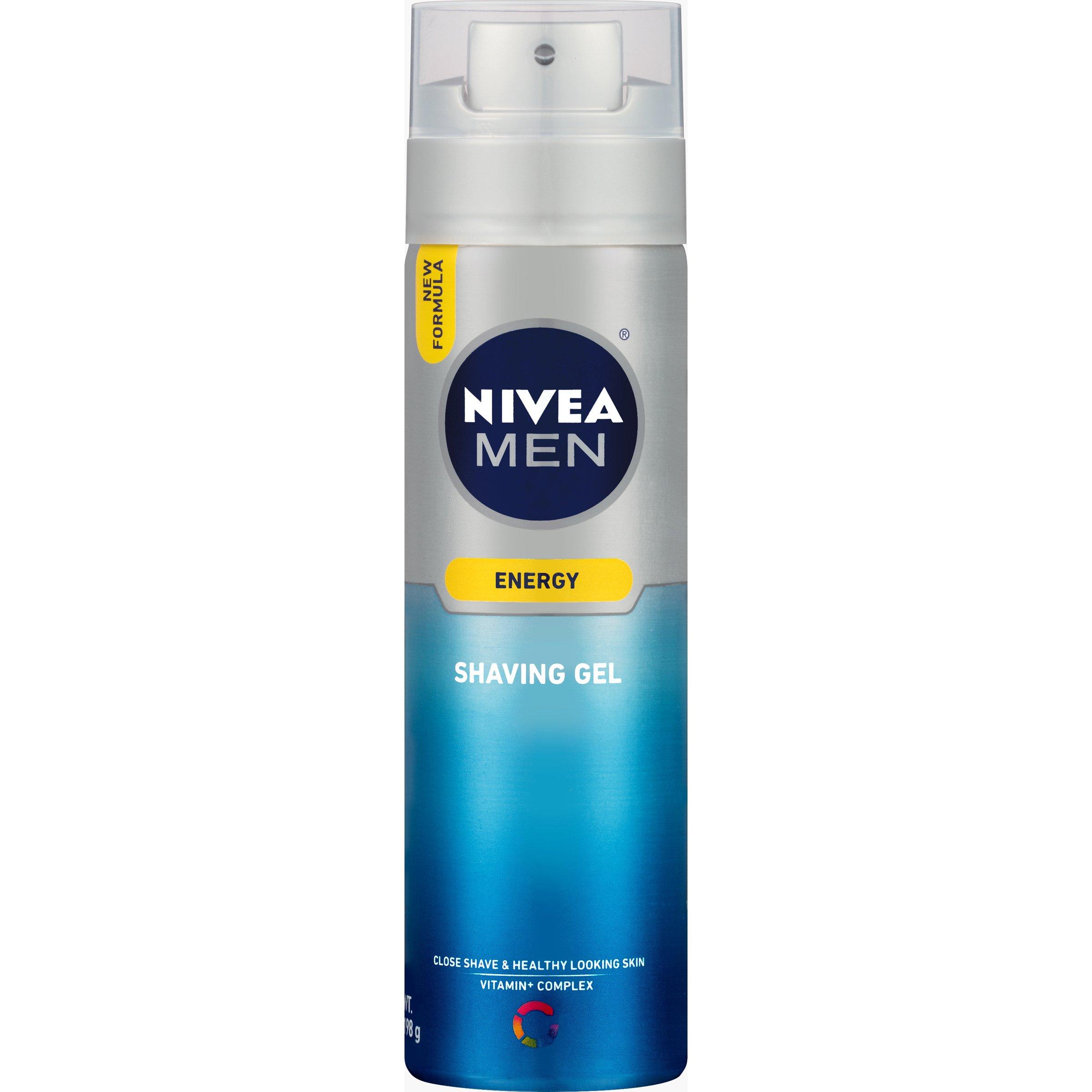 NIVEA FOR MEN Energy, Shaving Gel 7 oz (Pack of 3)