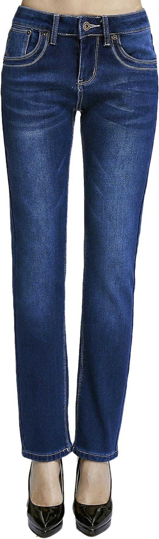 Image ofCamii Mia Pantalones Vaqueros Térmicos con Forro Polar de Invierno Slim Fit para Mujer