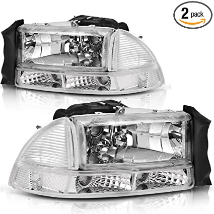 Headlight For 97 Dodge Dakota 98 Durango Driver Side w/ bulb CAR Headlight Lamp Car & Truck Lighting & Lamps