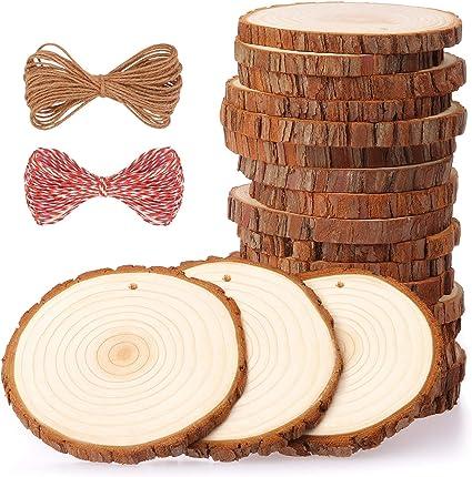 24 PZ Disco in legno FAI DA TE segnaposto matrimonio