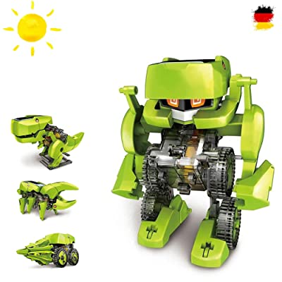 Dinosaures konstruktions de Bauset 4en 1avec kit, Robot, Droide, solaire Solar Kit de construction Bauset de Pédagogique électrique avec la Science exprementieren, entraînement par lumiè