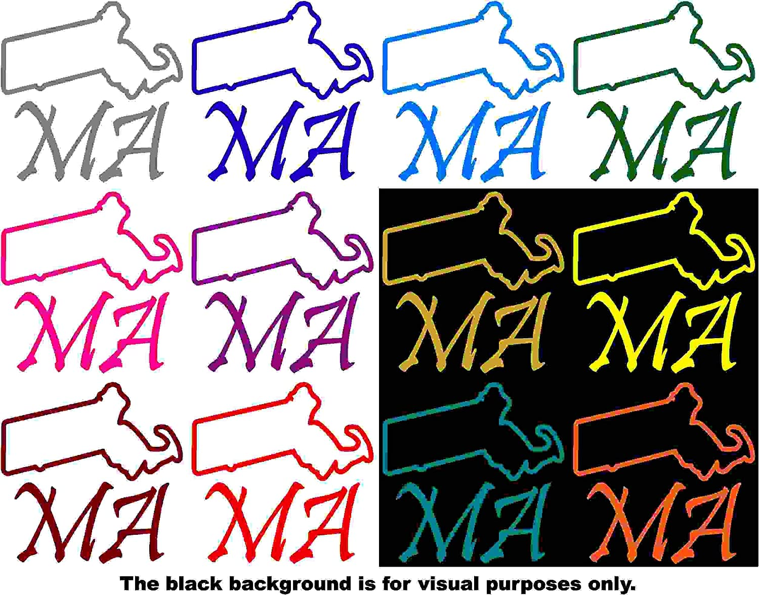 Choose Color V and T Gifts States Massachusetts Decal