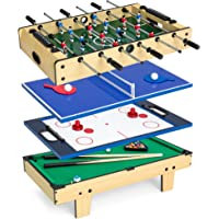 Best Choice 4-in-1 Table Game Set with Pool Billiards