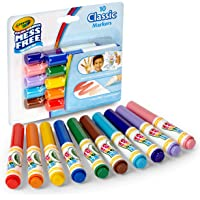 Crayola 752471 Color Wonder Mess Free Coloring Classic Markers (Set of 10)