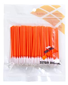 Zetek 100pcs Foam Tip Cleaning Swabs Sponge Stick for Inkjet Printer, Printhead, Camera, Cleanroom, Optical Lens, Gun, Automotive Detailing, Optical Equipment