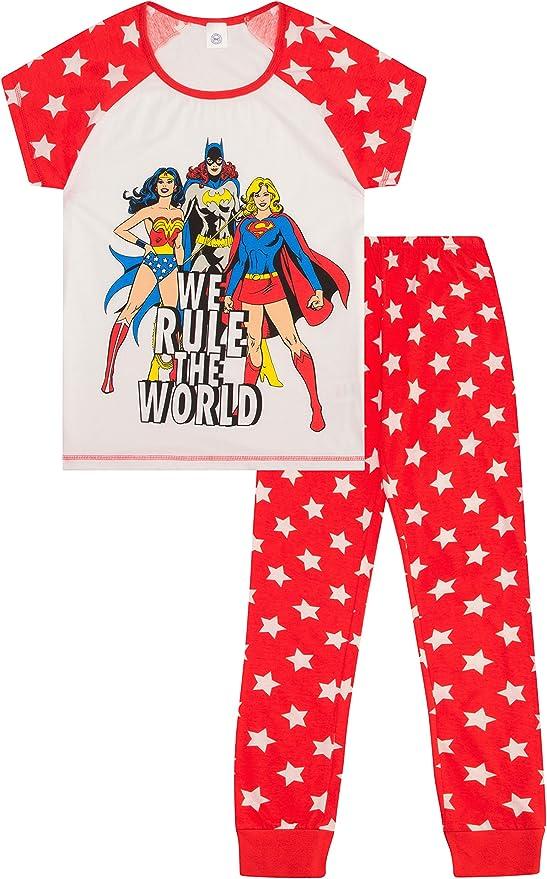 ThePyjamaFactory Warner Bros Wonder Women Ladies Pyjamas Sizes UK to 24 Ladies PJs