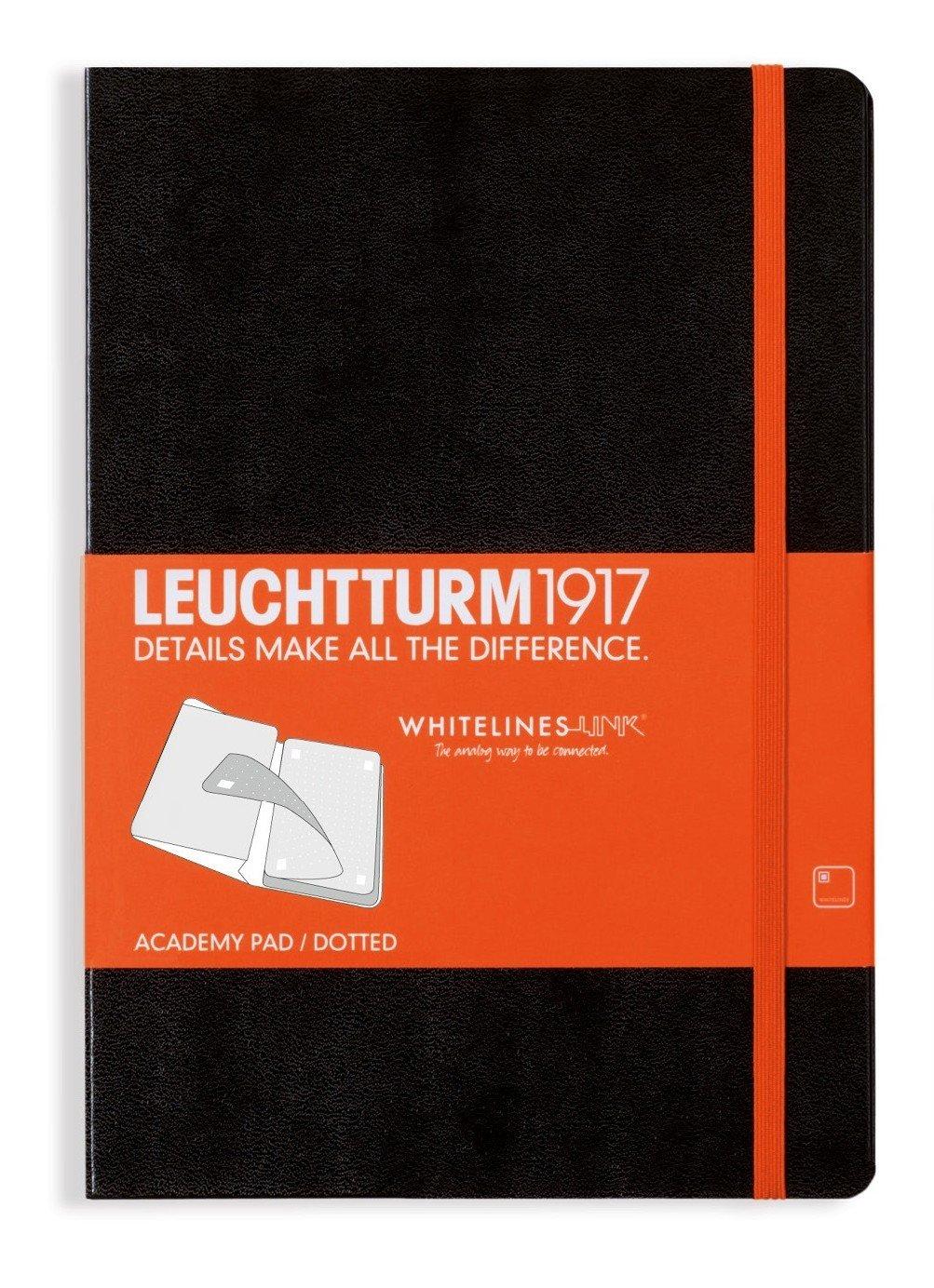 LEUCHTTURM1917 - Cuaderno (A5, tamaño mediano, de puntos), color negro