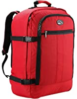 Cabin Max Metz Zainetto bagaglio a mano/da cabina, 44 litri, dimensioni approvate 55x40x20 cm su voli IATA (rosso)