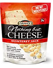 Ivanhoe Nothing But Cheese 100% Canadian Puffed Cheese Snacks, Monterey Jack, 57 Grams