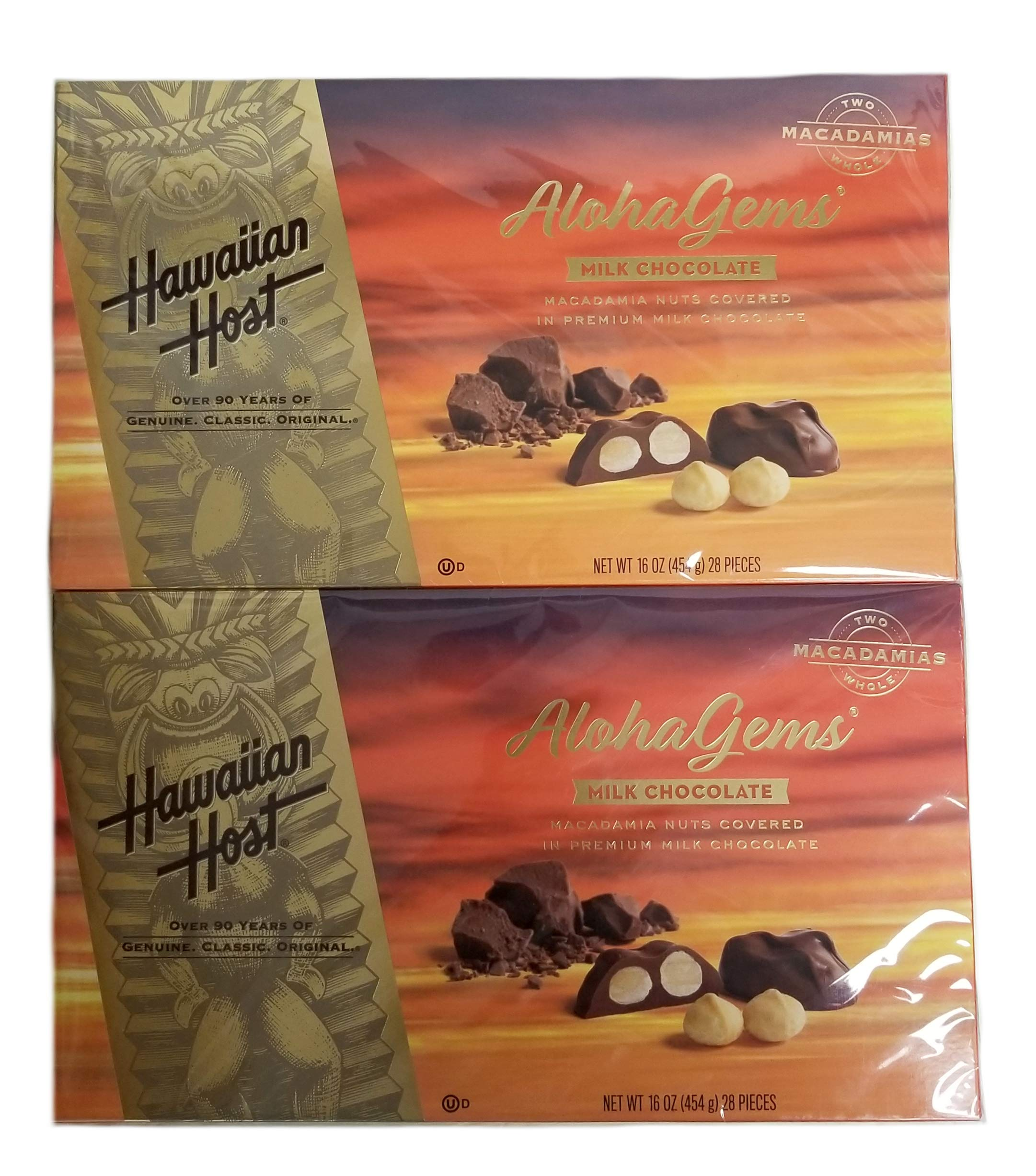 Aloha Gems Milk Chocolate Macadamia Nuts Covered In Premium Milk Chocolate - 2 Pack: 16 oz. (28 Pieces) each by Maxtrv