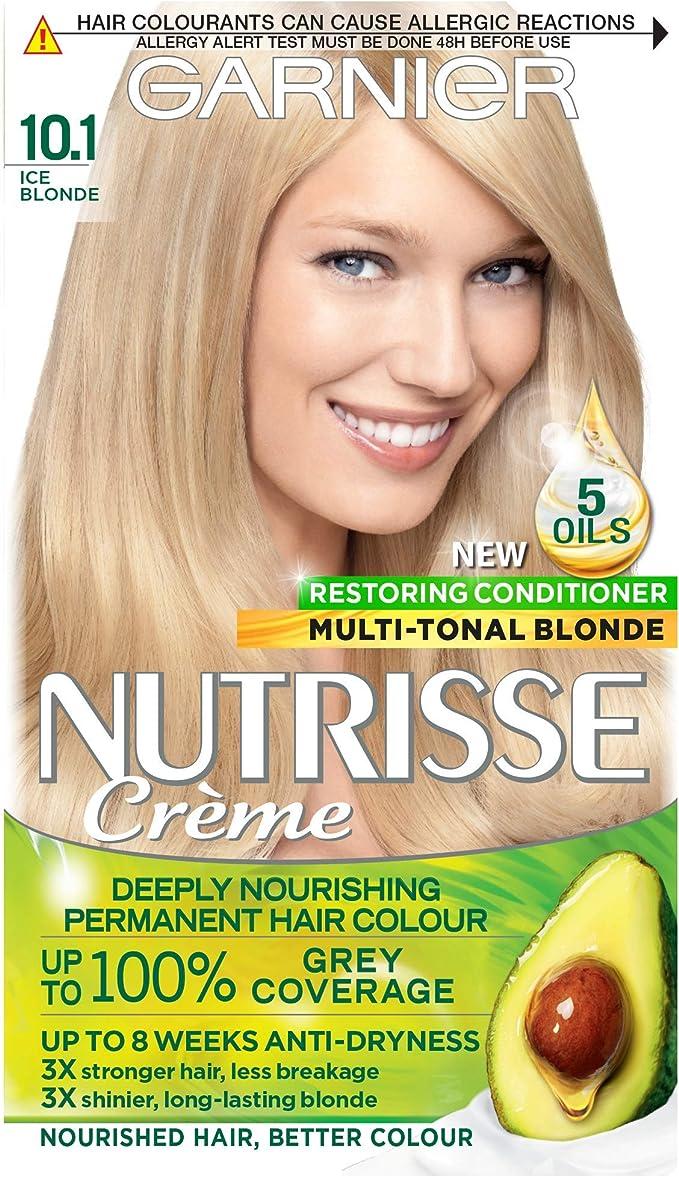 Garnier Nutrisse 10.1 - Tinte para el cabello permanente, Ice ...
