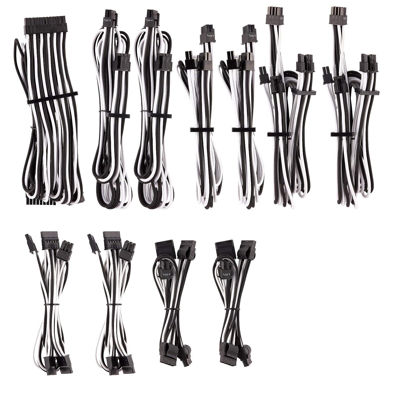 bleu//noir Kit pro de cbles CORSAIR Premium PSU Cables pour alimentation type 4 Gen 4 avec gainage multi-brins