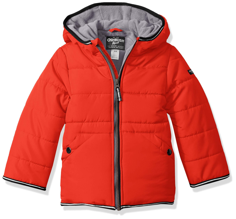 Osh Kosh Little Boys' Perfect Heavyweight Jacket Coat, Alexander Red, 5/6