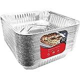Aluminum Foil Pans 9x9 Baking Pans (30 Pack) Square Baking Pans - 9 Inch Cake Pan - Brownie Pan - Lasagna Pan - 9 Inch x…