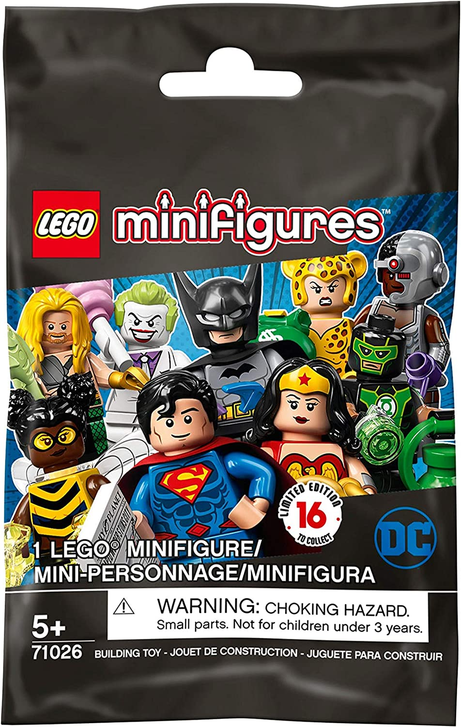 LEGO Minifigures - DC Super Heroes Series - New Sealed Blind Bags - Random Set of 6 (71026)