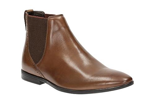 Clarks Herren Schuhe Chelsea Boots Leder schwarz Herren