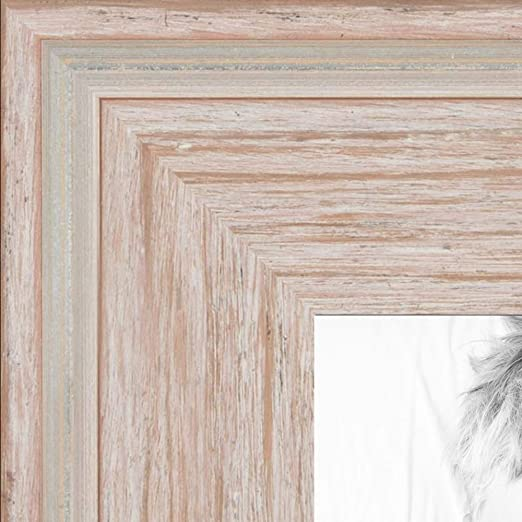"""ArtToFrames Custom Picture Poster Frame White Clear on Maple 1/"""" Wide Wood"""