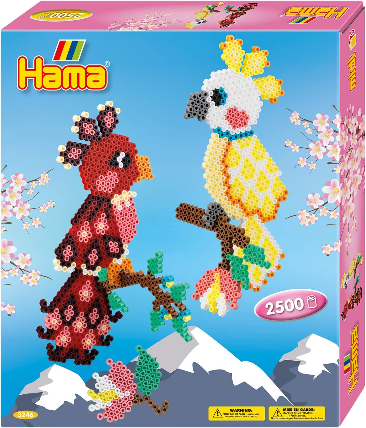 Mixed One Size Hama 3071 Beads Giant Open Gift Box Pink