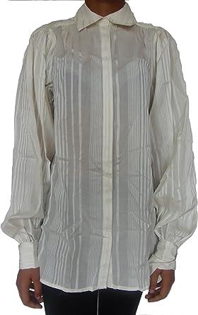MANGO - Camisas - para Mujer Crema Crema M: Amazon.es: Ropa y ...