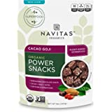Navitas Organics Superfood Power Snacks, Cacao Goji, 8 oz. Bag — Organic, Non-GMO, Gluten-Free, Sugar-Free