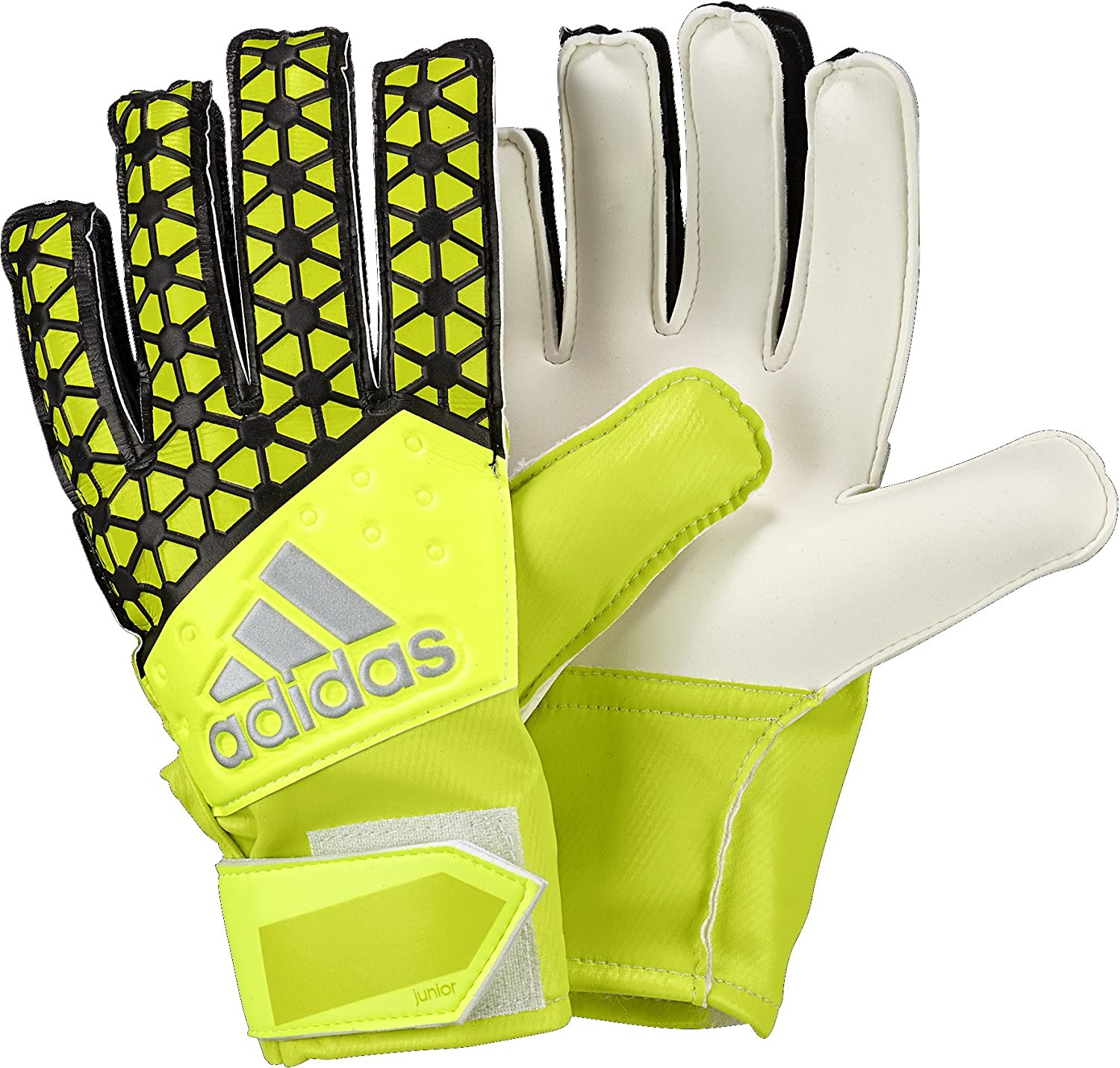 adidasアディダス ジュニア用ゴールキーパーグローブ パフォーマンス エース B00XRIKOEO 6|Solar Yellow/Semi Solar Yellow/Black Solar Yellow/Semi Solar Yellow/Black 6